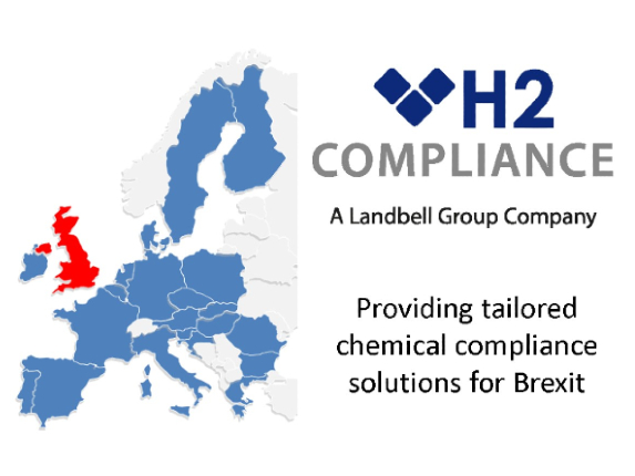 h2 brexit logo that says 'providing tailored chemical compliance solutions for Brexit'